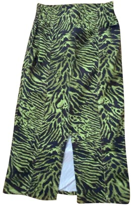 Ganni Green Cotton Skirt for Women