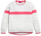 Aqua Girls' Color Tipped Wool Blend Sweater, Big Kid - 100% Exclusive