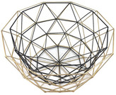 Concepts in Time Gold/Black Nested Geo Baskets - Set of 2