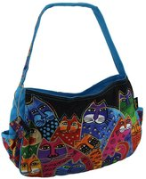 Zeckos Laurel Burch Whiskered Family Medium Hobo Tote Bag