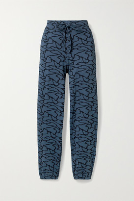 Twenty Montreal Hyper Reality Cotton-blend Jacquard-knit Track Pants - Blue