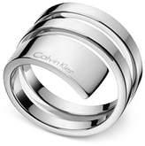 Calvin Klein beyond Silver-Tone Stainless Steel Wrap Ring KJ3UMR000106