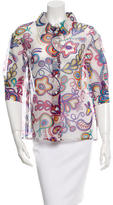 Louis Vuitton Printed Silk Top