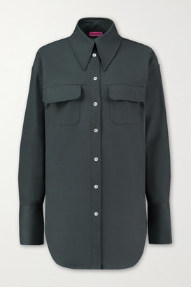 GAUGE81 Ulundi Oversized Cotton-poplin Shirt - Emerald