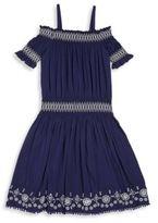 Ella Moss Girl's Zada Voile Off-The-Shoulder Dress
