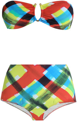 Isolda Arco + Iris Gathered Checked Bandeau Bikini