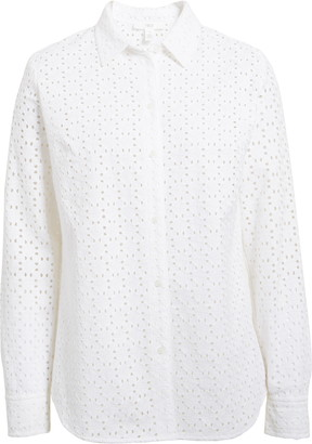 1901 Button Front Cotton Eyelet Shirt