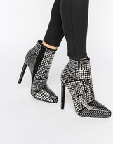 Jeffrey Campbell Gauntlet Stud Point Heeled Ankle Boots