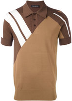 Neil Barrett stripe panel polo shirt - men - Nylon/Viscose - S