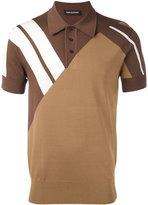 Neil Barrett stripe panel polo shirt - men - Viscose/Nylon - S