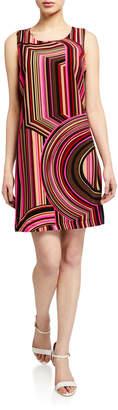 Julie Brown Leah Abstract Pattern Shift Dress