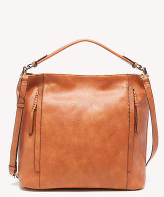 Sole Society Women's Siena Hobo Vegan Bag Leather Cognac Vegan Leather From