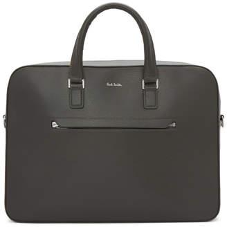 Paul Smith Grey Leather Folio Briefcase