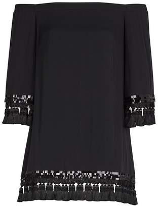 Mestiza New York Cha Cha Black Tassel Dress