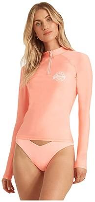 Billabong Sol Searcher Long Sleeve Rashguard (Peach Kiss) Women's Swimwear