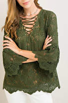 Entro Lace Green Top