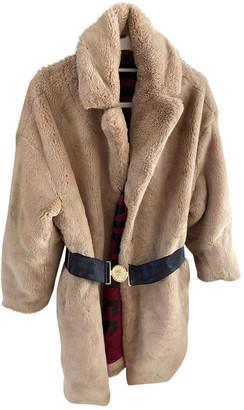 GUESS Beige Fur Coats