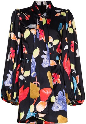 Peter Pilotto Floral Printed Mini Shirt Dress
