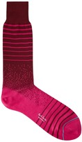 Paul Smith Red Striped Stretch Cotton Socks
