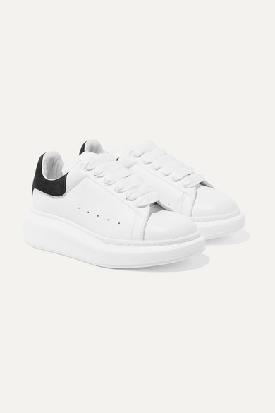 46f41f390 Kids - Suede-trimmed Leather Exaggerated-sole Sneakers - White