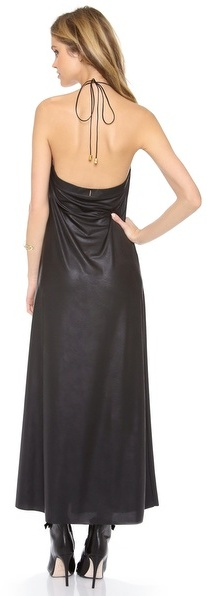T-Bags Tbags Los Angeles Faux Leather Long Dress