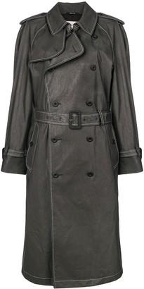 Maison Margiela Contrast Stitch Trench Coat