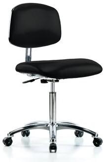 Blue Ridge Task Chair Ergonomics Upholstery Color: Black, Casters/Glides: Casters