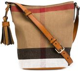 Burberry check canvas crossbody bag - women - Cotton/Leather - One Size