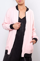 Love Tree Lovetree Long Linen Bomber Jacket