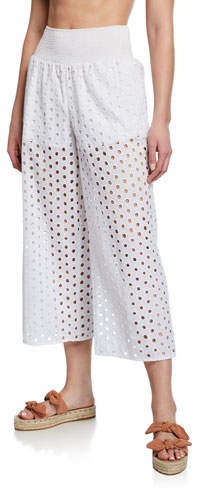 4f7345ac43 White Eyelet Bathing Suit Cover - ShopStyle