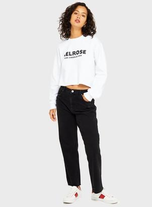 Miss Selfridge Black Straight Leg Jeans