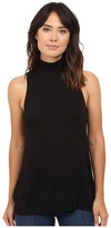 Heather Sleeveless Wrap Back Panel Tank Top
