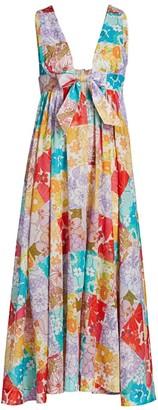 Zimmermann Patchwork Floral A-Line Midi Dress