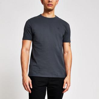 River Island Maison Riviera grey slim fit T-shirt