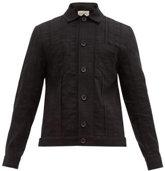 Oliver Spencer Havana Linen Blend Jacket - Mens - Black