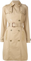 MICHAEL Michael Kors studded trench coat - women - Cotton/Polyester/Spandex/Elastane - XS