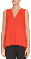CeCe Sleeveless V-Neck Blouse
