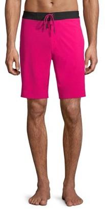 "No Boundaries Men's and Big Men's 9"" Fixed Waist Swim Shorts"