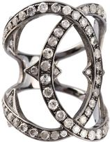 Loree Rodkin spiked diamond double loop ring