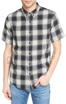 Ezekiel Men's Herringbone Woven Plaid Shirt