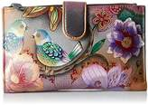 Anuschka Handpainted Leather Large Smart Phone Case and Wallet
