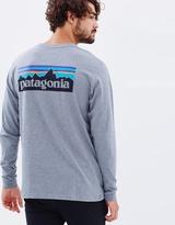 Patagonia Men's LS P-6 Logo Cotton T-Shirt