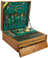 One Kings Lane Vintage 151-Pc Modernist Brass Flatware Set