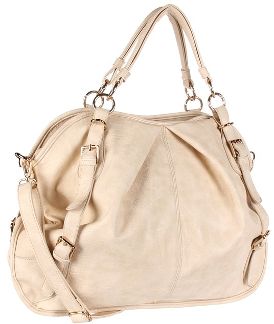 Culture Phit Breanna Oversized Glam Bag (Cream) - Bags and Luggage