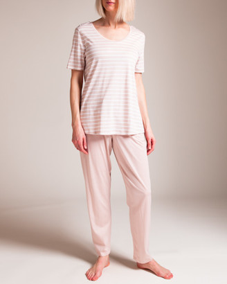 Hanro Laura Short Sleeve Pajama