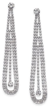 Thalia Sodi Silver-Tone Crystal Pendulum Drop Earrings, Created for Macy's