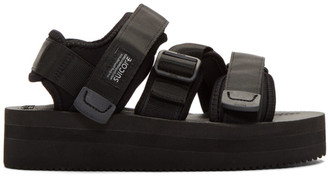 Suicoke Black Kisee-VPO Sandals