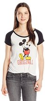 Disney Juniors' Mickey Mouse Slub Short-Sleeve T-Shirt