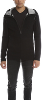 Helmut Lang Hooded Zip Cashmere Sweater