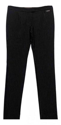 John Galliano Navy Linen Trousers